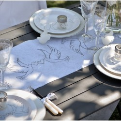 Chemin de table mariage colombes