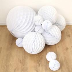 Boule alvéolée blanche 50 CM