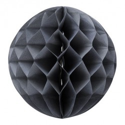 Boule en papier alvéolée gris clair 30 cm