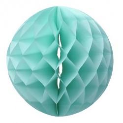 Boule en papier alvéolée menthe 30 cm