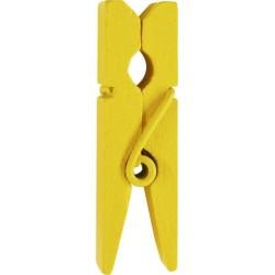 12 pinces en bois jaune