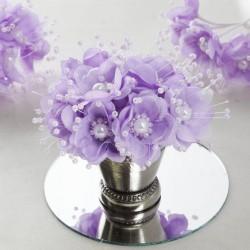 Bouquet de fleurs en tissu Lavande