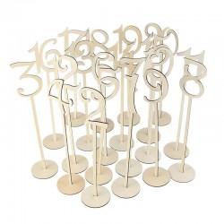 Numéro de table mariage en bois x 10