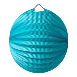Lampion accordéon bleu caraibes