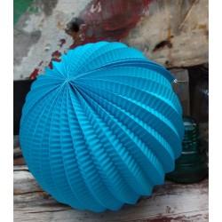 Lampion accordéon bleu urquoise