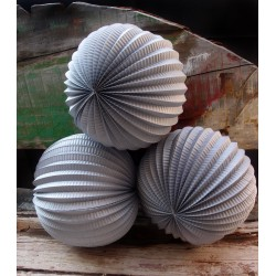 Lampion accordéon gris