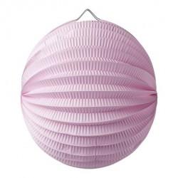Lampion accordéon rose