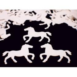 Confettis de table chevaux
