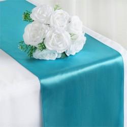 Chemin de table satin bleu outremer