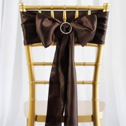 Noeud de chaise satin chocolat