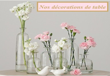 Nos décorations de table