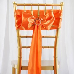 Noeud de chaise satin orange