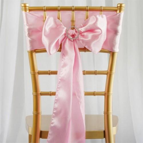 Noeud de chaise satin rose