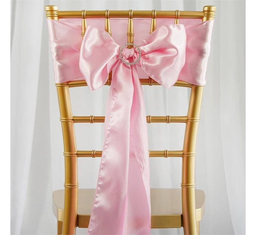 noeud de chaise satin rose les couleurs du mariage mariage et r ception. Black Bedroom Furniture Sets. Home Design Ideas