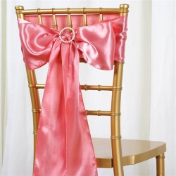 Noeud de chaise satin rose
