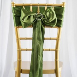 Noeud de chaise satin vert olive