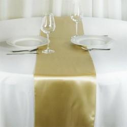 Chemin de table mariage satin champagne