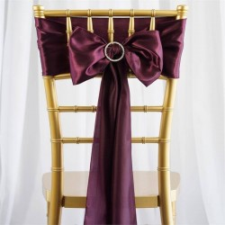 Noeud de chaise satin pourpre