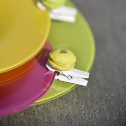 Pince marue place macaron jaune par 4