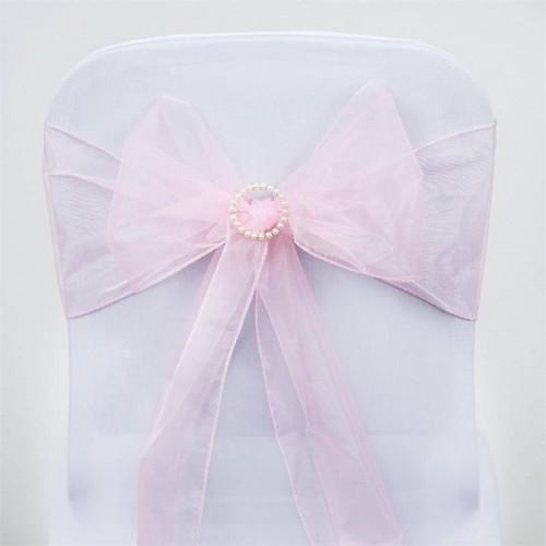 noeud de chaise mariage organza rose pale par 10 les couleurs du mariage mariage et r ception. Black Bedroom Furniture Sets. Home Design Ideas