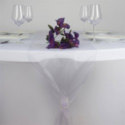 Chemin de table organza lavande