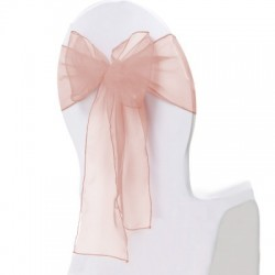 Noeud de chaise organza blush par 10