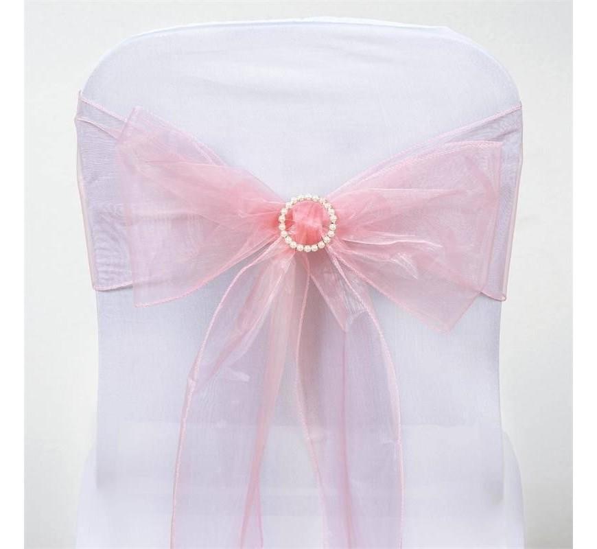 noeud de chaise mariage organza rose quartz par 10 les couleurs du mariage mariage et r ception. Black Bedroom Furniture Sets. Home Design Ideas