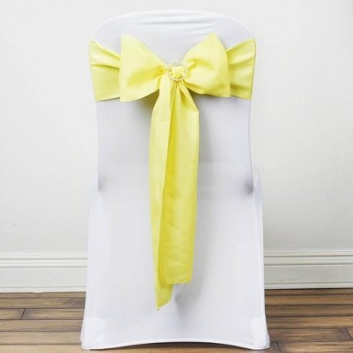 Noeud de chaise polyester jaune