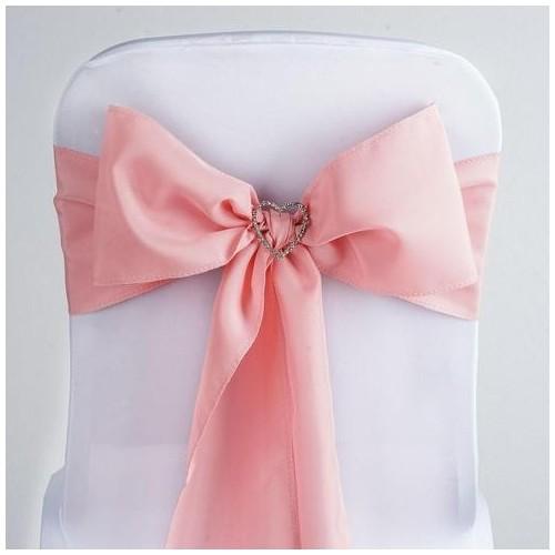 Noeud de chaise polyester rose quatz