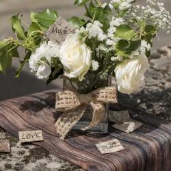 Marque place écorce de bois par 10