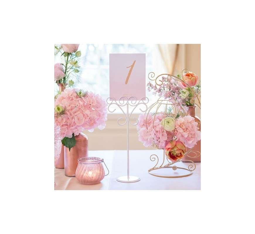 Porte nom de table fer forg les couleurs du mariage for Decoration table porte nom