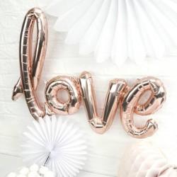 Ballon géant love cuivré