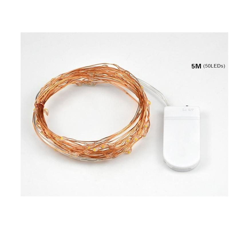 guirlande lumineuse fil de cuivre 5m les couleurs du mariage mariage et r ception. Black Bedroom Furniture Sets. Home Design Ideas