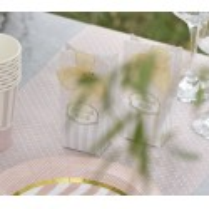Chemin de table plumetis rose