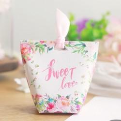 Boite à dragées florale Sweet love
