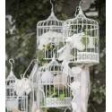 Cage à oiseaux décorative blanche