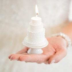 Bougie mariage wedding cake