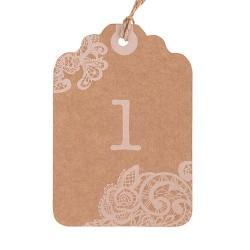 Numéro de table dentelle (par 12)