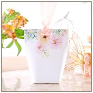 Sachet à dragées floral pastel par 5