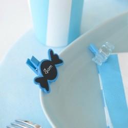 Marque place ardoise bonbon bleu turquoise par 6