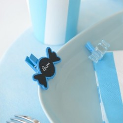 Marque place ardoise bonbon bleu turquoise