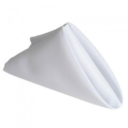 Serviette de table blanche par 5