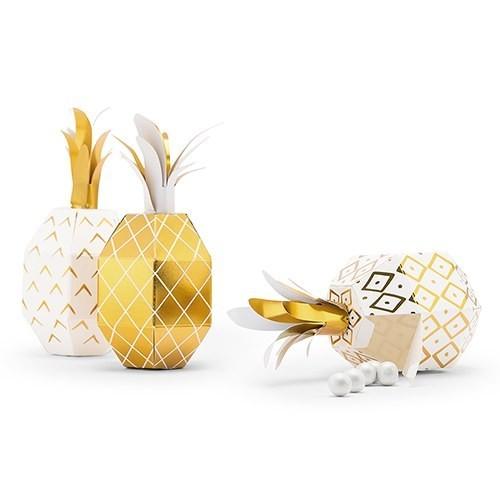 Boite à dragées ananas par 6