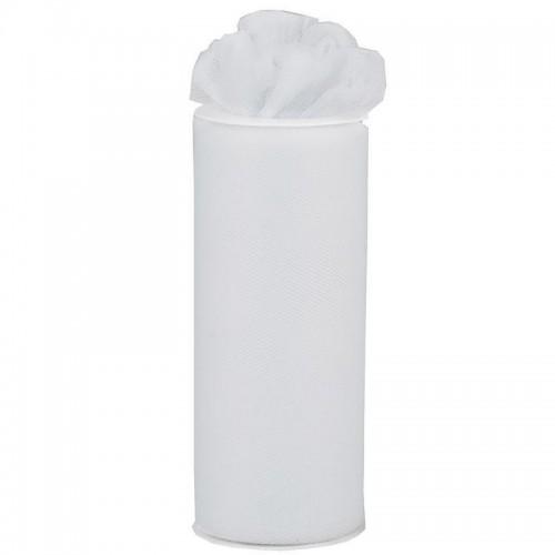 Rouleau de tulle blanc 15 cm