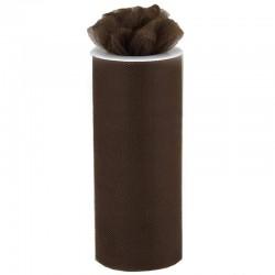 Rouleau de tulle chocolat 15 cm