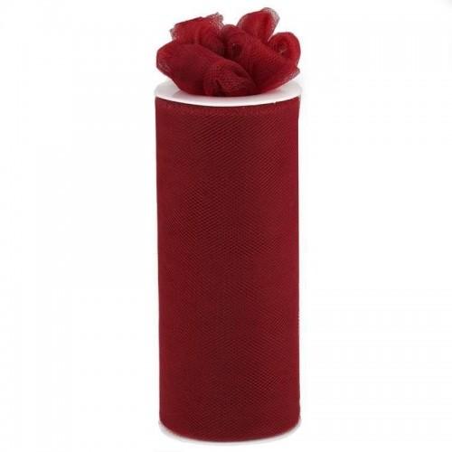 Rouleau de tulle bordeaux 15 cm