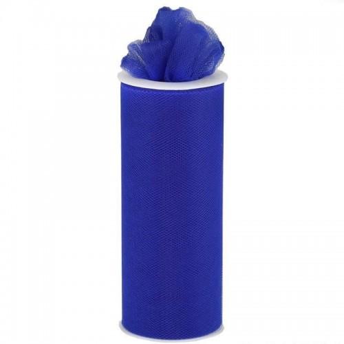 Rouleau de tulle bleu roi 15 cm