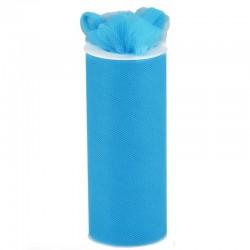 Rouleau de tulle bleu turquoise 15 cm