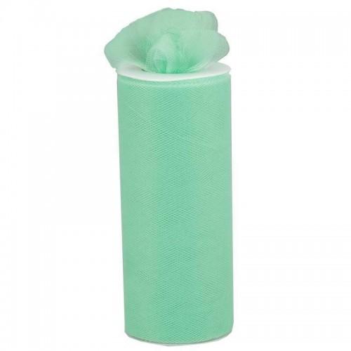 Rouleau de tulle menthe à l'eau 15 cm
