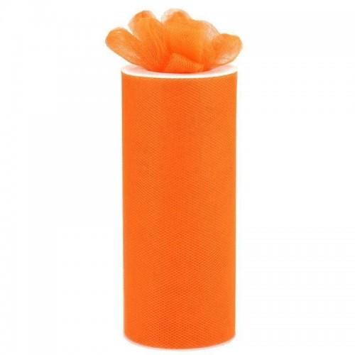 Rouleau de tulle orange 15 cm